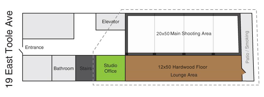 Tucson photography studio lovesmack studios for Photography studio floor plans